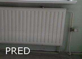 Výmena radiatora - stav pred výmenou - kúrenár Bratislava